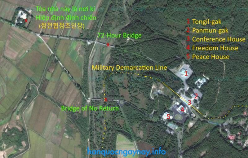 Bản đồ Khu vực An ninh chung - JSA