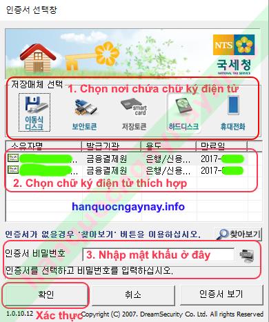 hanquocngaynay.info - Xác thực bằng Chứng thực điện tử