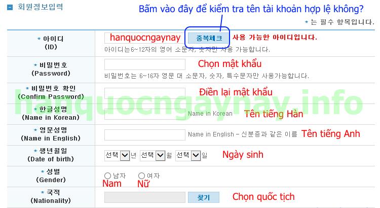 hanquocngaynay.info - Hướng dẫn đăng ký tài khoản topik.go.kr