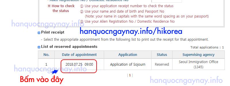hanquocngaynay.info - Hướng dẫn hủy lịch hẹn trên HiKorea